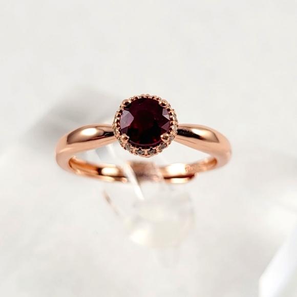 0.65ct Ruby Rose Gold Ring
